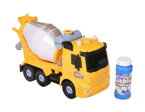 Купить Набор для пускания мыльных пузырей Бетономешалка, световые и звуковые эффекты 40х13х20 см, Junfa toys,