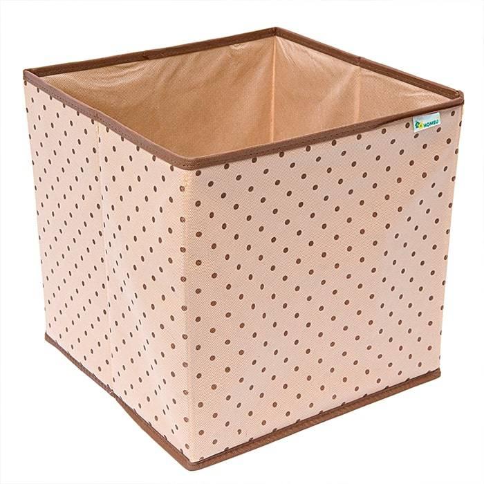 Коробка-куб для хранения вещей Homsu «Горох» фото