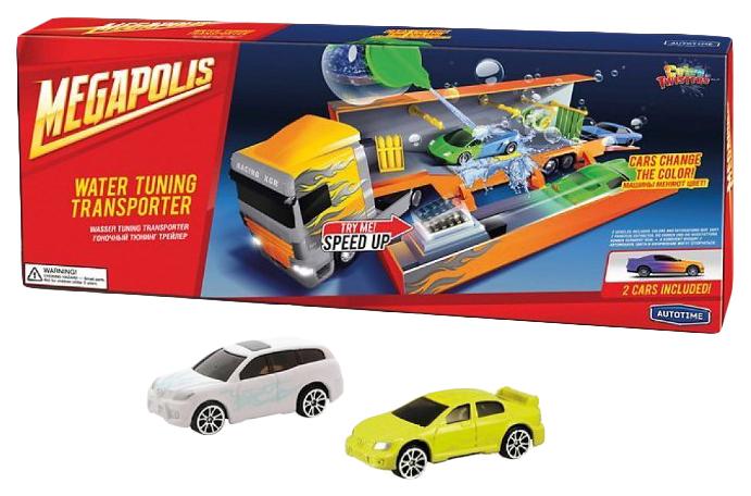 Набор Техники Autotime Megapolis Color Twisters Racing Transporter 33934