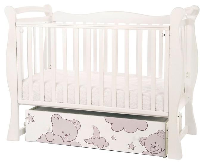 Кровать детская Антел Amarobaby Sweet Bear, автостенка, универсальный маятник