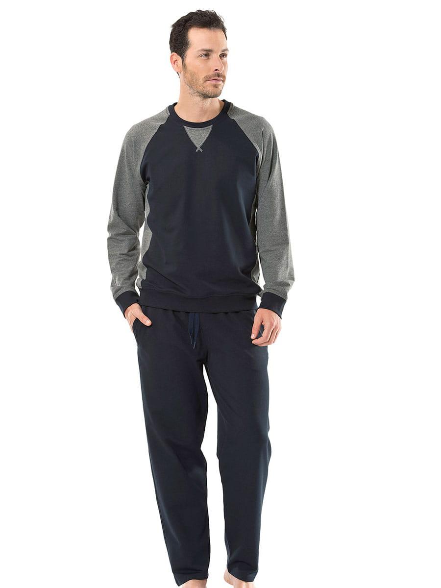 Пижама мужская Turen 4117 синяя L фото