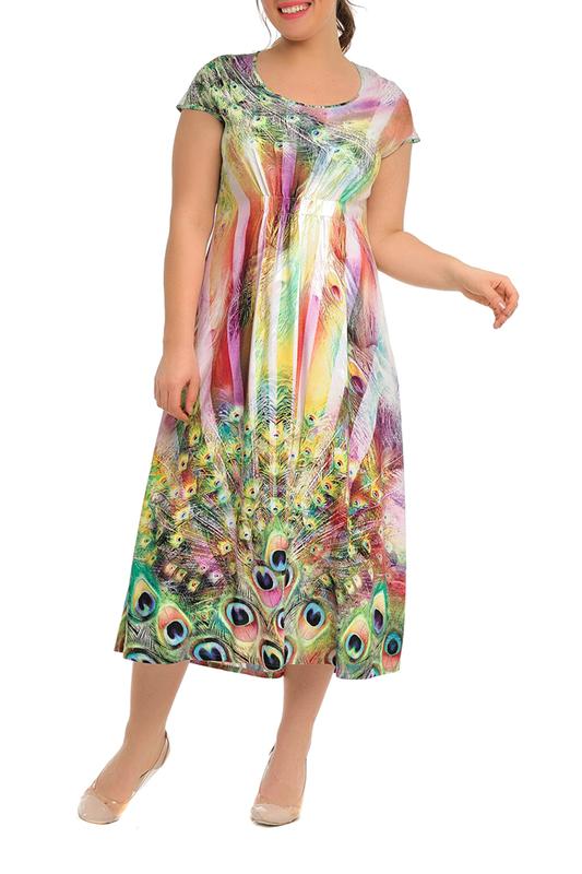 Платье женское SVESTA R499-17VERJAU зеленое 48 RU фото