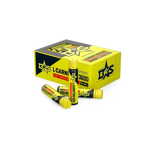 Л-Карнитин жидкий Binasport L-Carnitine 3600 мг питьевой 24 фл. по 25 мл со вкусом лимона L-Carnitine питьевой