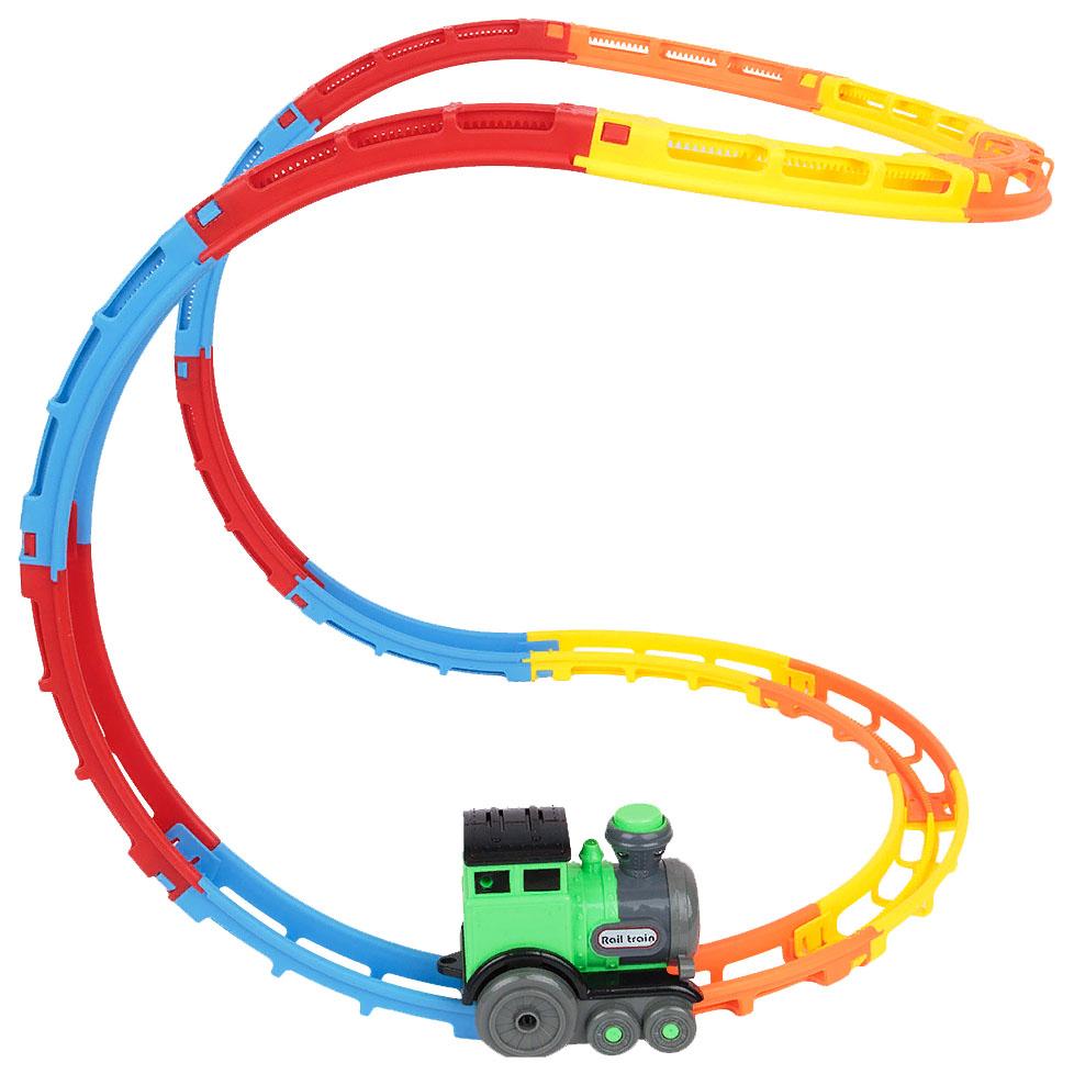 """Игровой набор """"Flip train"""" с поездом и рельсами Игруша"""