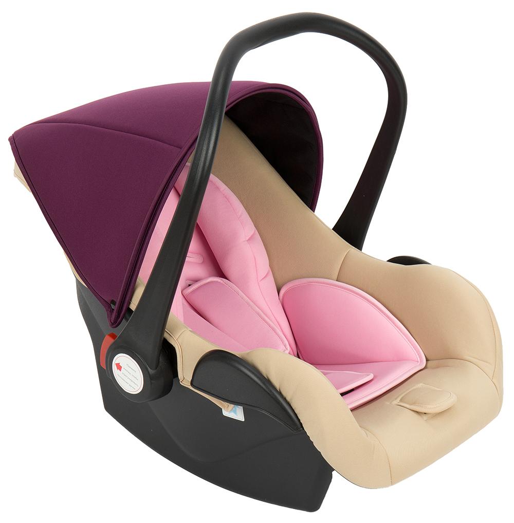 Автокресло-переноска Leader Kids Baby Leader Comfort II Light Pink Бежевый/Розовый