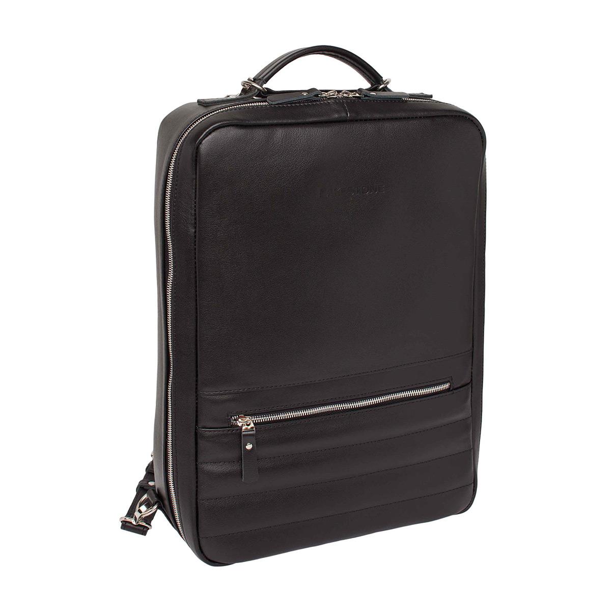 Рюкзак-трансформер кожаный LAKESTONE 918307/BL фото