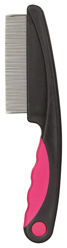 Расческа для кошек TRIXIE металл, цвет черный, розовый