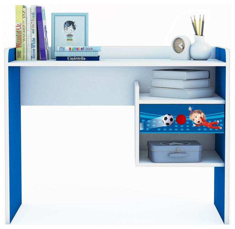 Купить Детский стол письменный Polini Kids Fun 1000 Маша и Медведь Синий, Детские столики