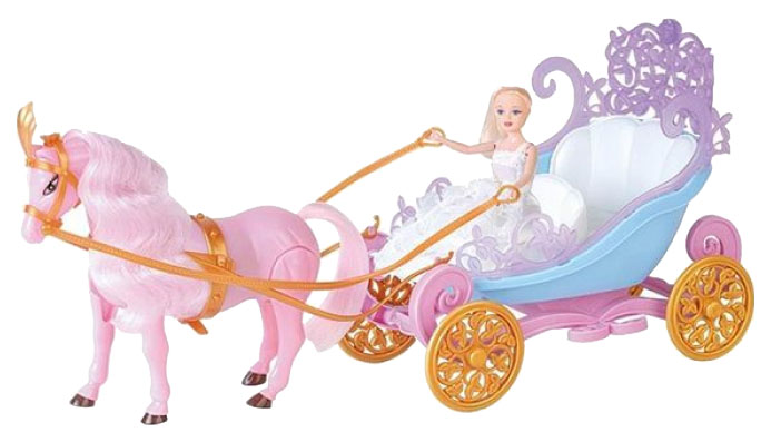 Купить Игровой набор Наша Игрушка Умиляндия карета с лошадью и куклой, Наша игрушка,