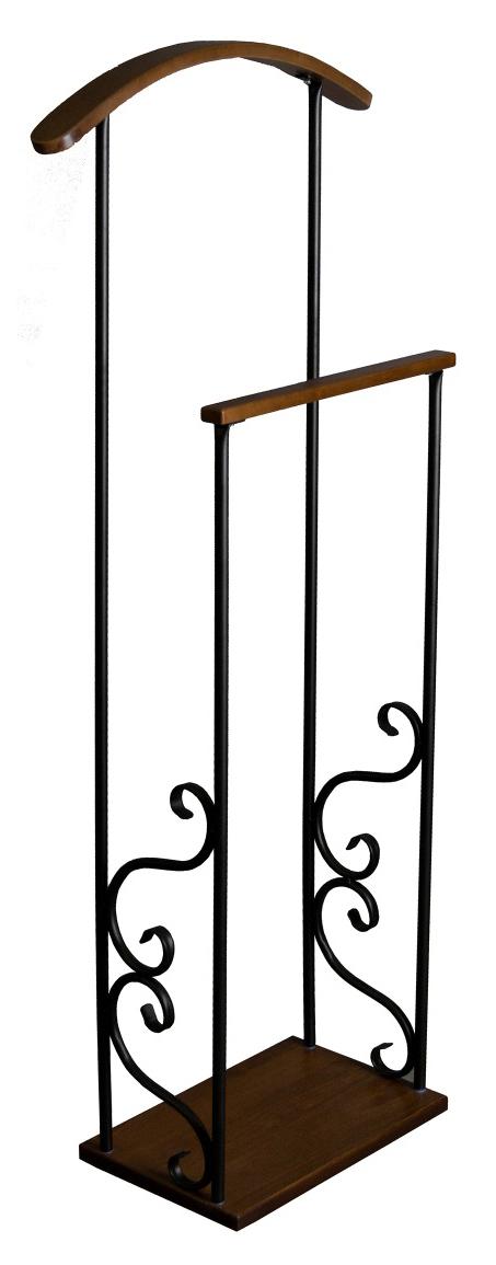 Вешалка костюмная Мебелик Сартон 41 Черный/Средне коричневый