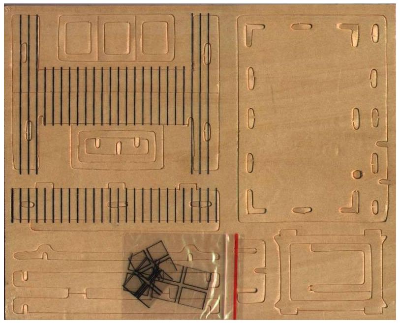 Купить Сборная деревянная модель Wooden Toys Избушка, 37 деталей, Модели для сборки