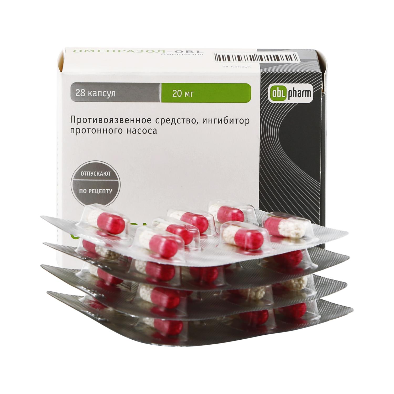 Омепразол-OBL капсулы 20 мг 28 шт.