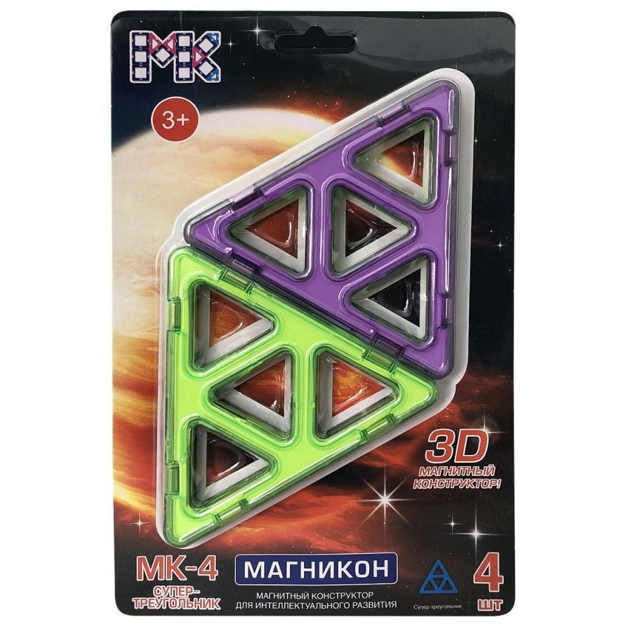 Купить Конструктор магнитный Магникон МК-4-СТ Супер треугольники, МАГНИКОН, Магнитные конструкторы