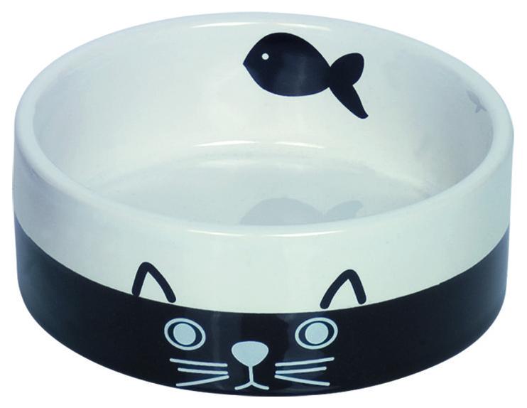 Одинарная миска для кошек Nobby, керамика, черный,