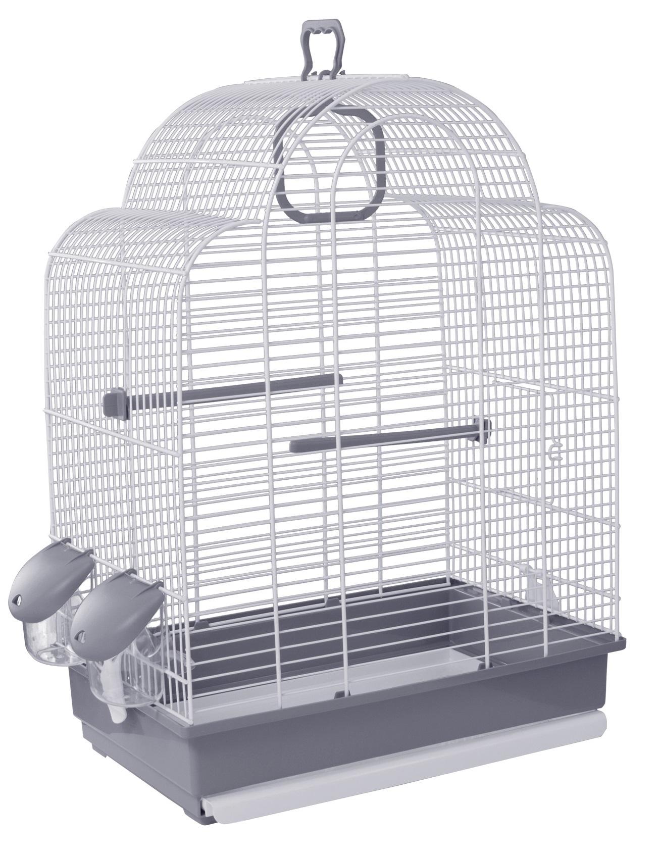 Клетка для птиц Voltrega (648) цвет белый/серый