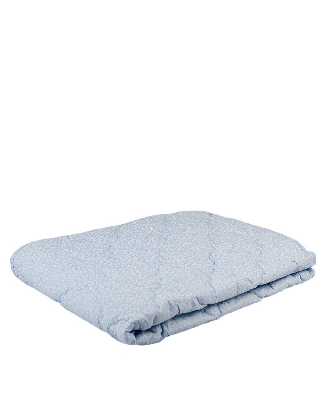 Одеяло облегченное МИ голубой с цветочками