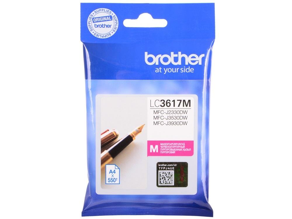 Картридж для струйного принтера Brother LC-3617M, пурпурный, оригинал фото