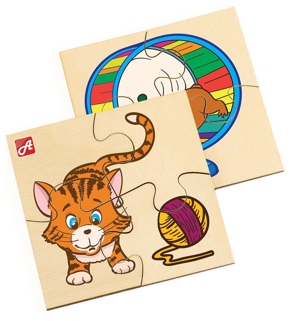 Купить Деревянная игрушка Анданте Домашние животные, Русские деревянные игрушки, Развивающие игрушки