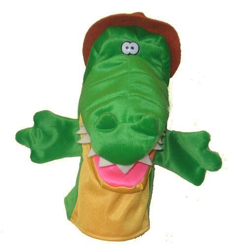 Кукла перчатка Тайга Крокодил с открывающимся ртом