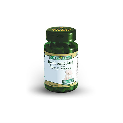 Купить Гиалуроновая кислота-20 мг 476 мг, Гиалуроновая кислота-20 мг Nature's Bounty 476 мг 30 капсуд