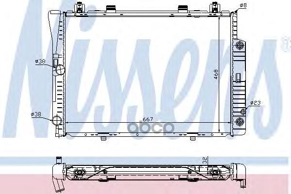 Радиатор охлаждения Nissens 62746A