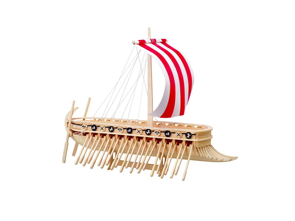 Купить Сборная модель Wooden Toys Финикийский парусник, Модели для сборки