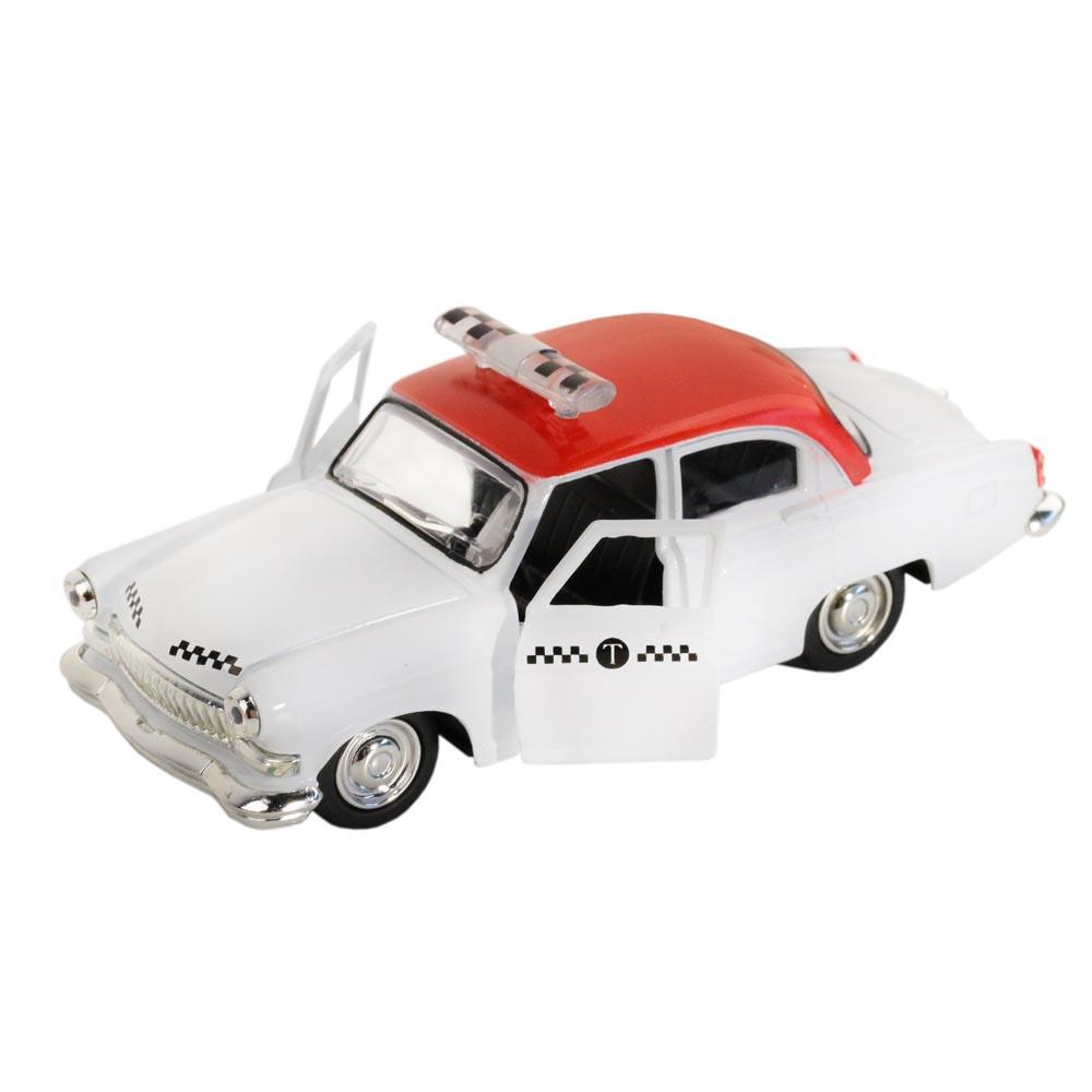 АВТОПАНОРАМА Машинка металлическая Такси, серая, 1200076
