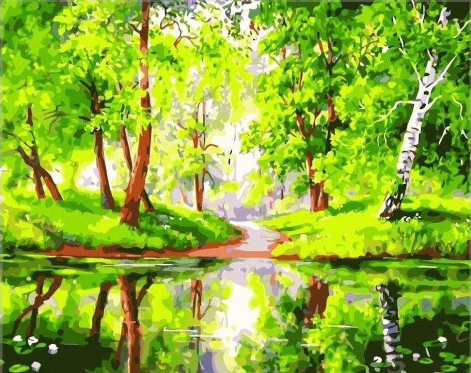лето природа рисунок изгиб позволяет