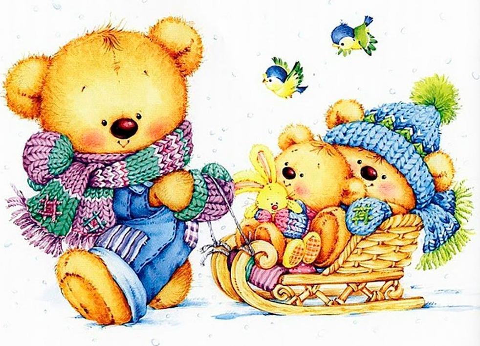 считалось, открытки красивые с медвежонком герои