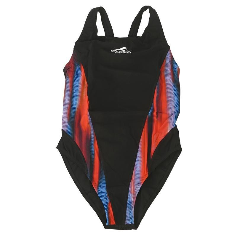 Купальник слитный Fashy Aquafeel Sport 21599 01, красный/синий/черный,