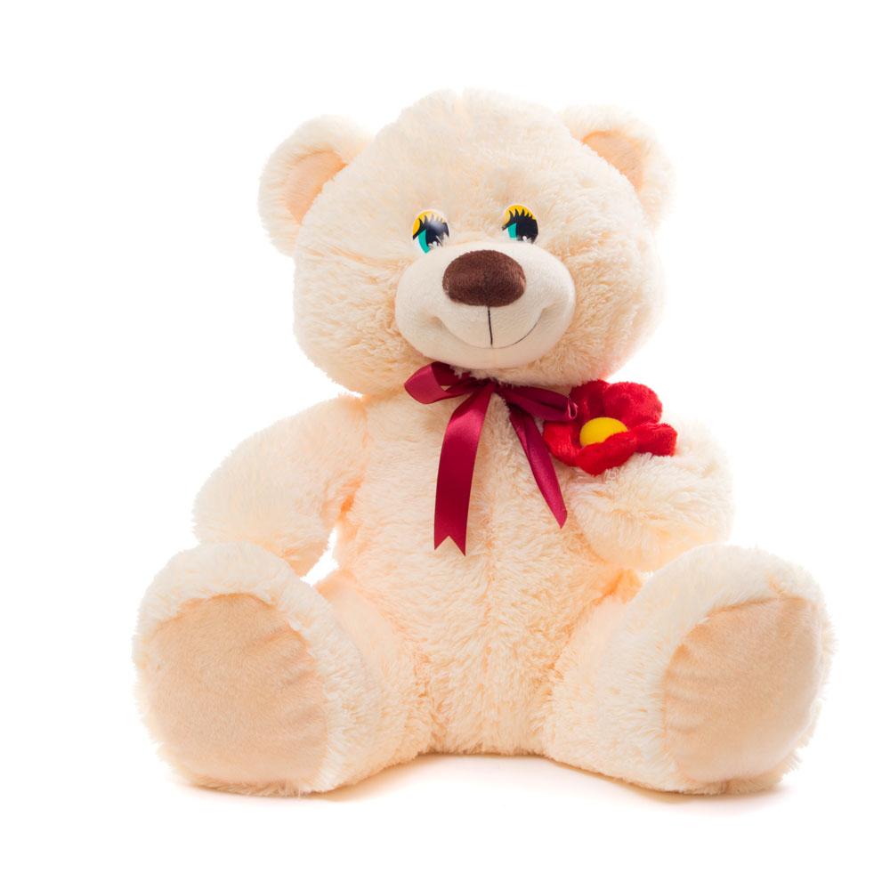 Купить Мягкая игрушка Медведь маленький с цветком 45 см Нижегородская игрушка См-646-5, Мягкие игрушки животные