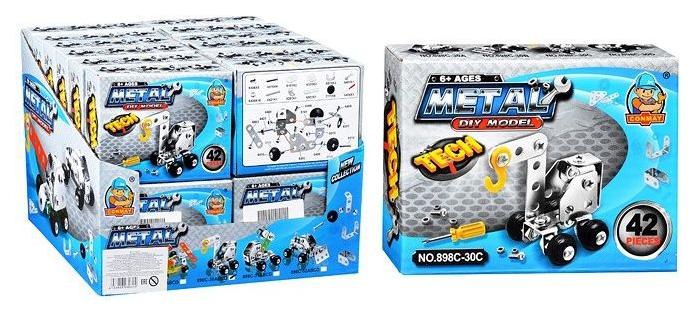 Конструктор металлический Junfa Toys Строительная техника 898C