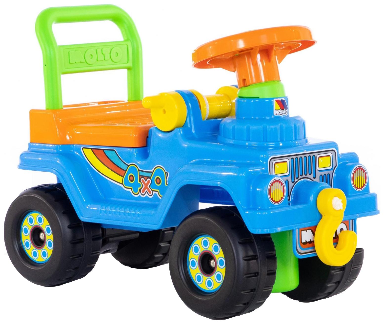 Купить Детский транспорт, Машина-каталка Полесье Джип 4х4 № 2 Голубой без звукового сигнала, Molto, Машинки каталки