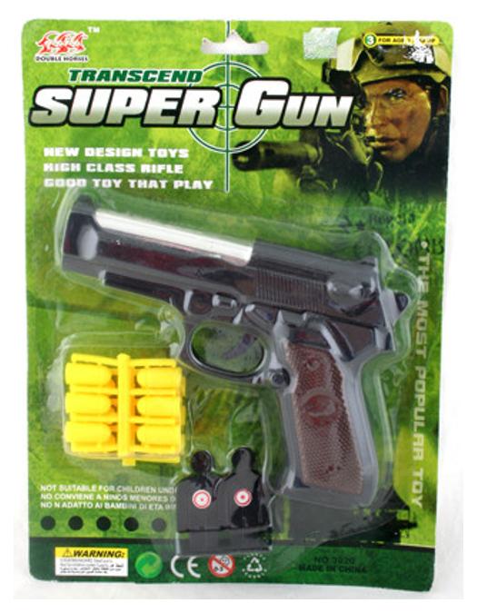 Купить Огнестрельный игрушечный пистолет NoBrand Super Gun 3020B, Игрушечные пистолеты