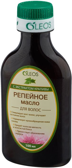 Олеос масло репейное косметическое с экстрактом крапивы 100мл
