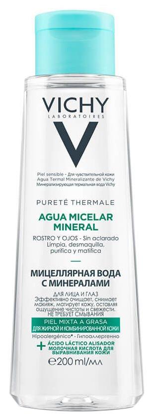 Мицеллярная вода Vichy с минералами для жирной и комбинированной кожи 200 мл