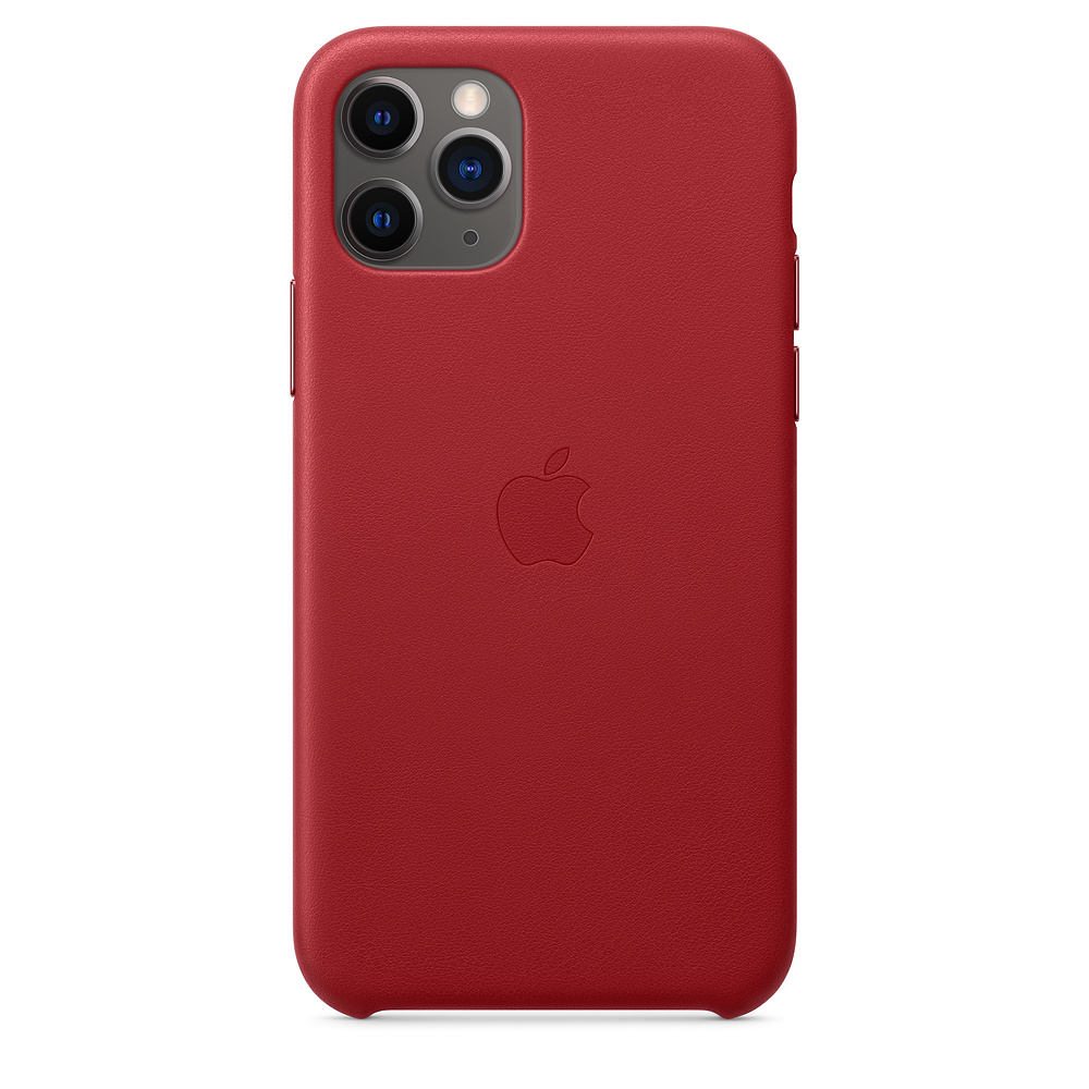 Чехол Apple для iPhone 11 Pro Leather Case - (PRODUCT)RED