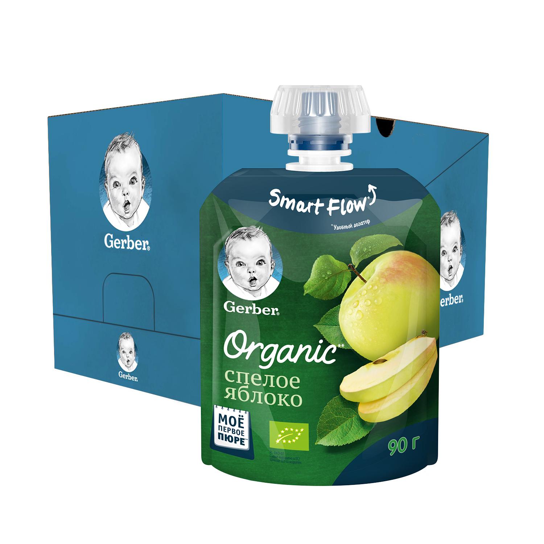 Фруктовое пюре Gerber Organic Спелое Яблоко с 4 мес., 16 шт. по 90 г фото