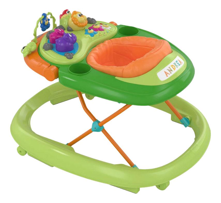 Купить Walky Talky, Ходунки Chicco BAND GREEN WAVE с игрушкой 'руль', зеленые 7954032, Ходунки детские