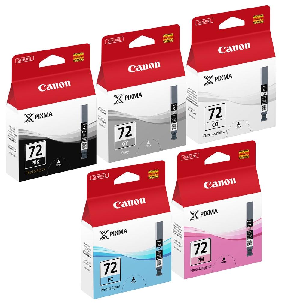 Картридж для струйного принтера Canon PGI-72PBK/GY/PM/PC/CO (6403B007) цветной, оригинал фото