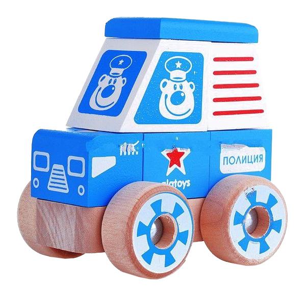 Купить Конструктор деревянный Alatoys Полицейская машина малая, Алатойс,