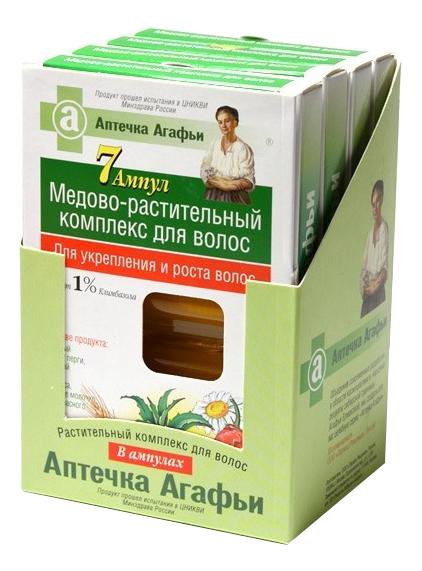 Масло для волос Аптечка Агафьи против выпадения 7x5 мл