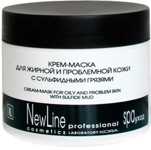 Купить Крем-маска New Line для жирной и проблемной кожи с сульфидными грязями, 300 мл