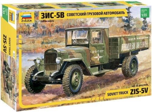 Купить Сборная модель Zvezda Советский грузовой автомобиль ЗИС-5В (3529), Модели для сборки