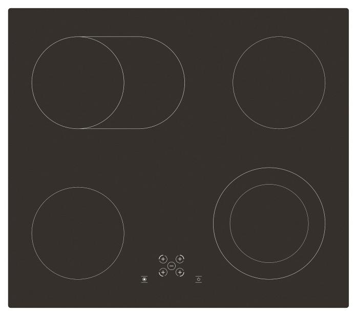 Встраиваемая варочная панель электрическая Simfer H60D17B011 Black