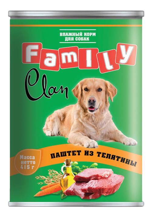 Консервы для собак Clan Family, телятина, 415г