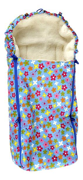 Конверт-мешок для детской коляски Чудо-Чадо Комфорт цветочки