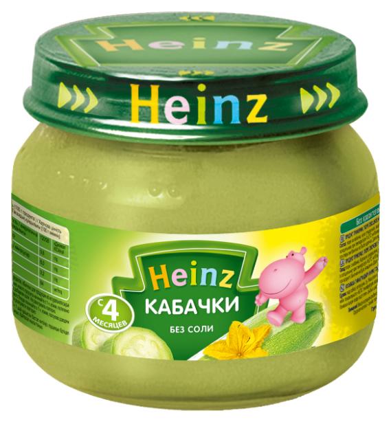 Пюре овощное Heinz Кабачки с 4 месяцев