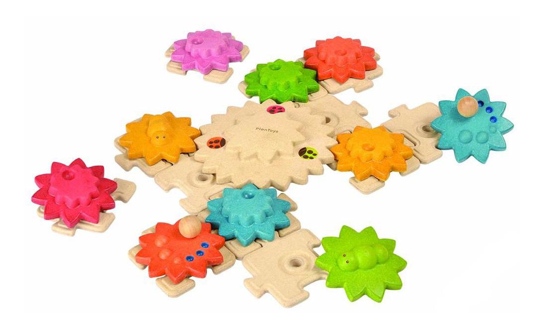 Деревянная игрушка для малышей PlanToys Шестеренки, Развивающие игрушки  - купить со скидкой