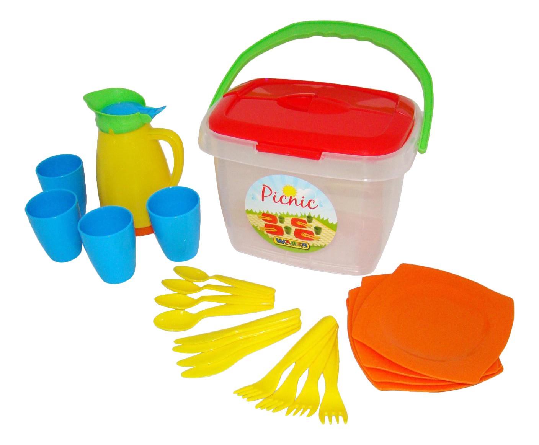 Купить Набор посуды игрушечный Полесье Алиса для пикника 2, Игрушечная посуда